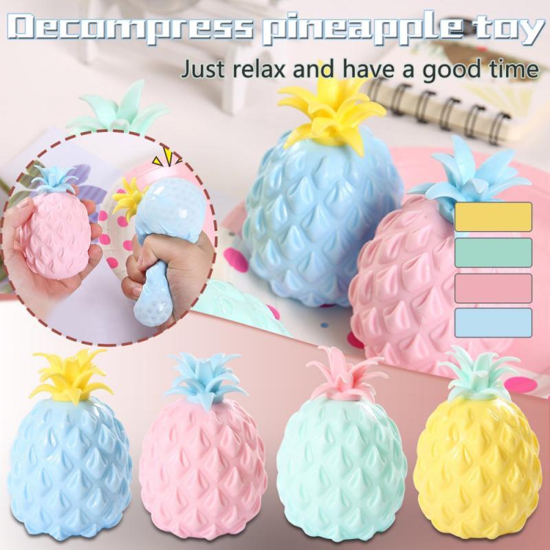 AliExpress - Fun Soft Pineapple Ball Stress Reliever Toy Children Adult Fidget Squishy Antistress Creativity Sensory Toy Gift Decompression