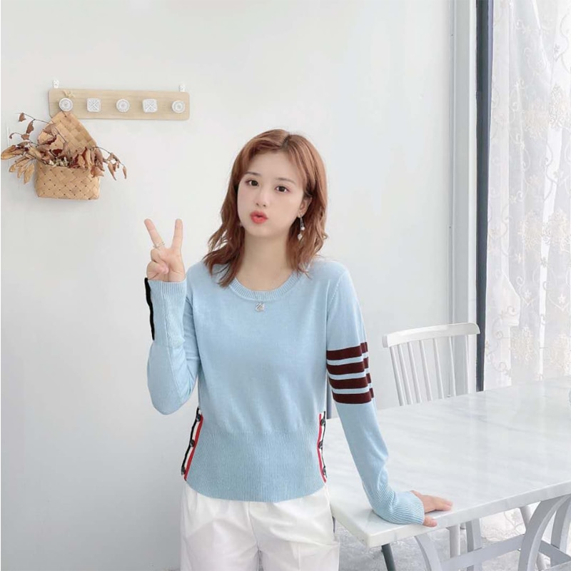 5 PCS Wholesale Women Knitting Sweater Casual Long Sleeve O-Neck  Pullover Lady Tops women sweaters enlarge
