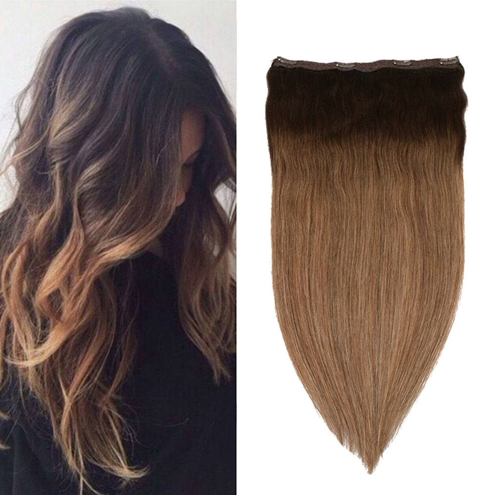 Toysww один кусок клип в наращивание волос человеческие волосы двойной утка клип на наращивание балаяж коричневый #2/2/8