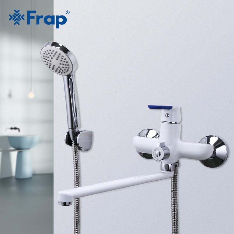 Frap Bathtub Faucets bath faucet mixer shower white bathroom faucets cold and hot water mixer bath taps griferia tapware