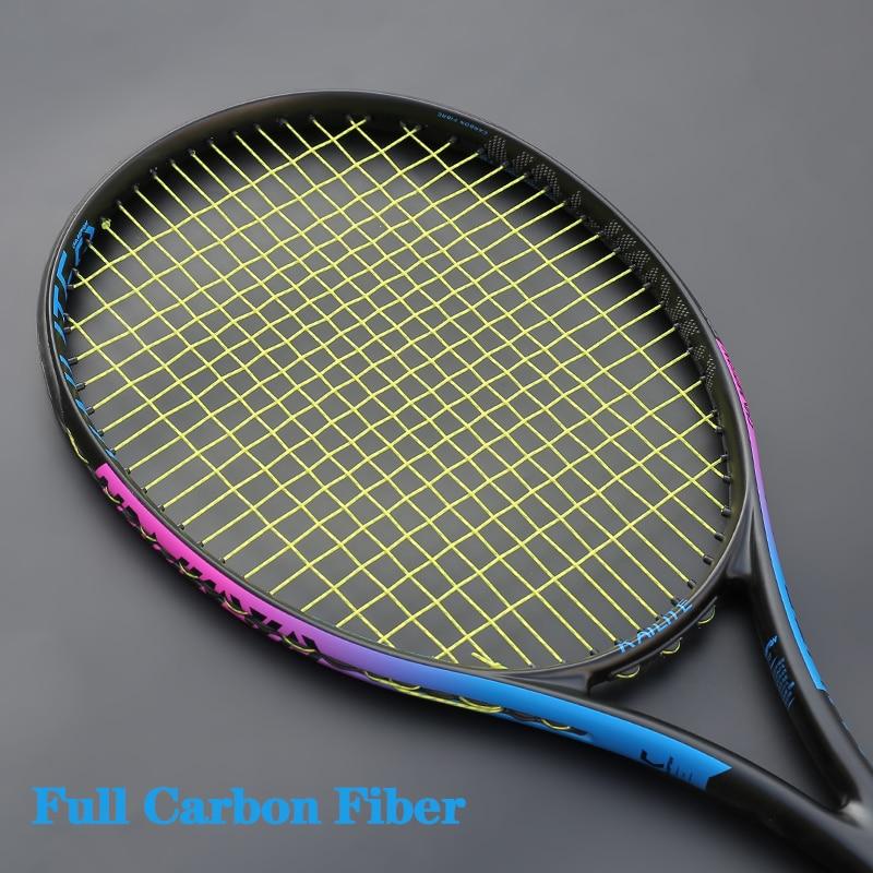 100% углеродное волокно теннисные ракетки супер светильник 50-70 фунтов Профессиональный ракетки теннисные ракетки для бадминтона теннисные р...