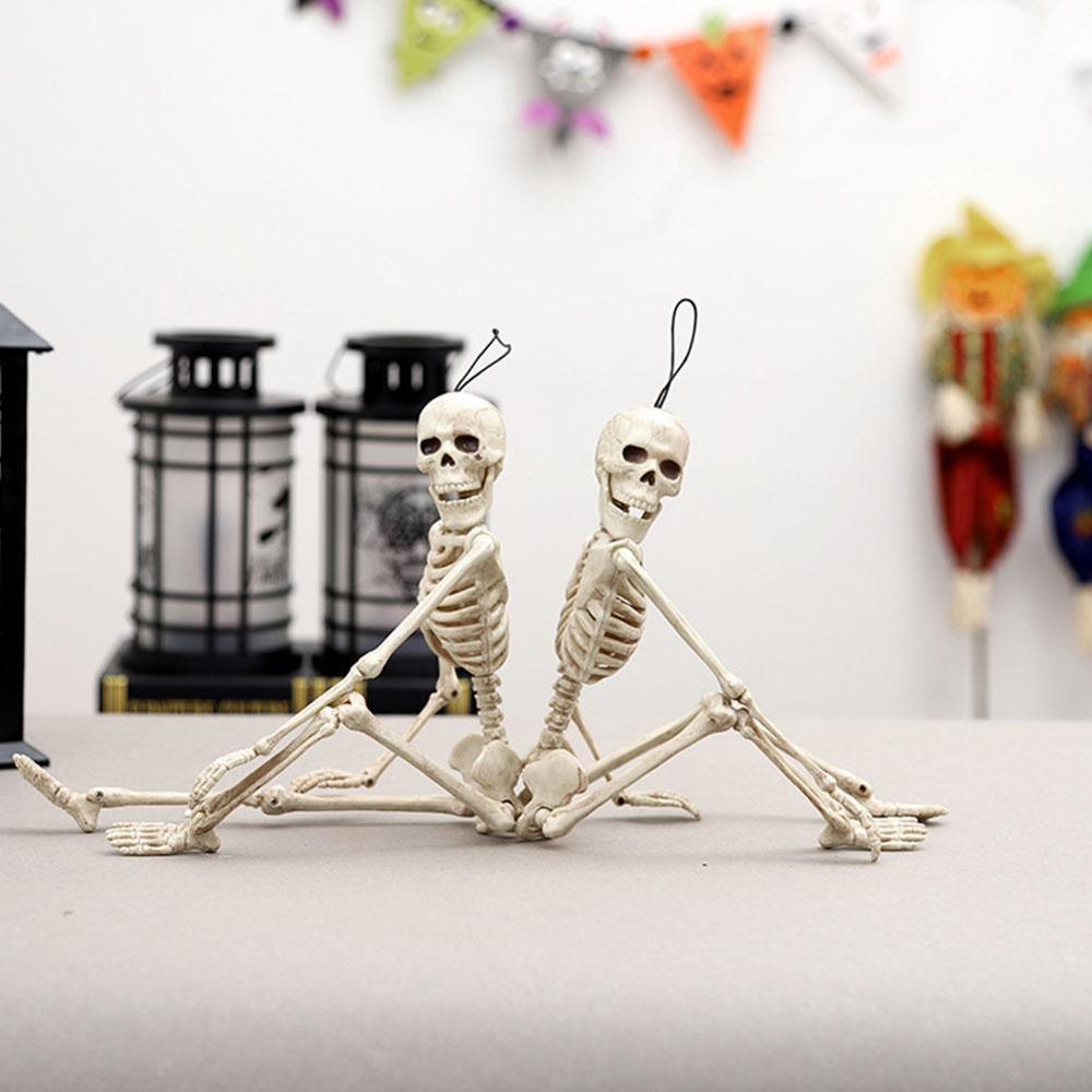 Uno para la venta Halloween Horror Props esqueleto humano Casa Encantada cuarto secreto Horror seco cadáver plástico esqueleto
