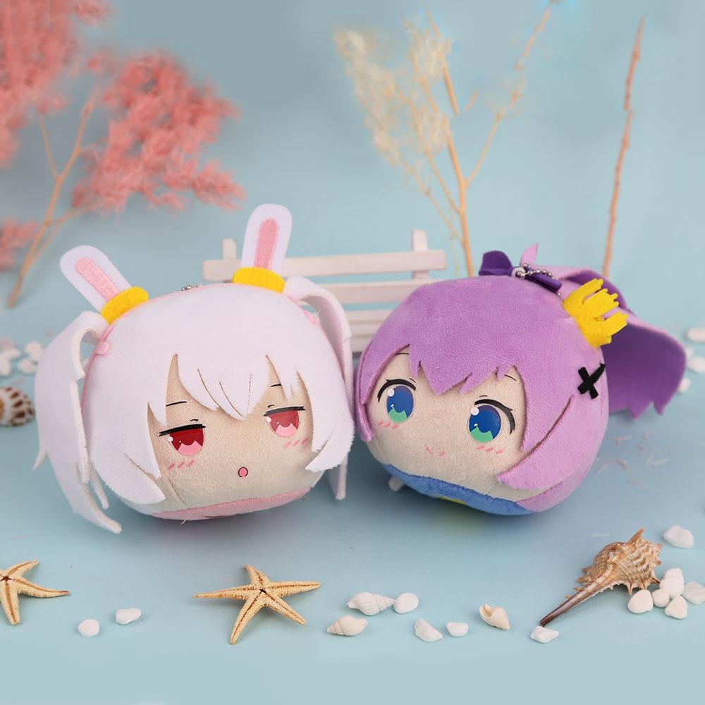 Juego Azur Lane USS Laffey jabalina Cosplay Anime Mini peluche lindo muñecas llavero juguete llavero colgante para bolso de dibujos animados Dango regalo