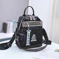 sparkle sequines womens backpacks for school girls shoulder bags fashion sac a dos black silver mochila femenina