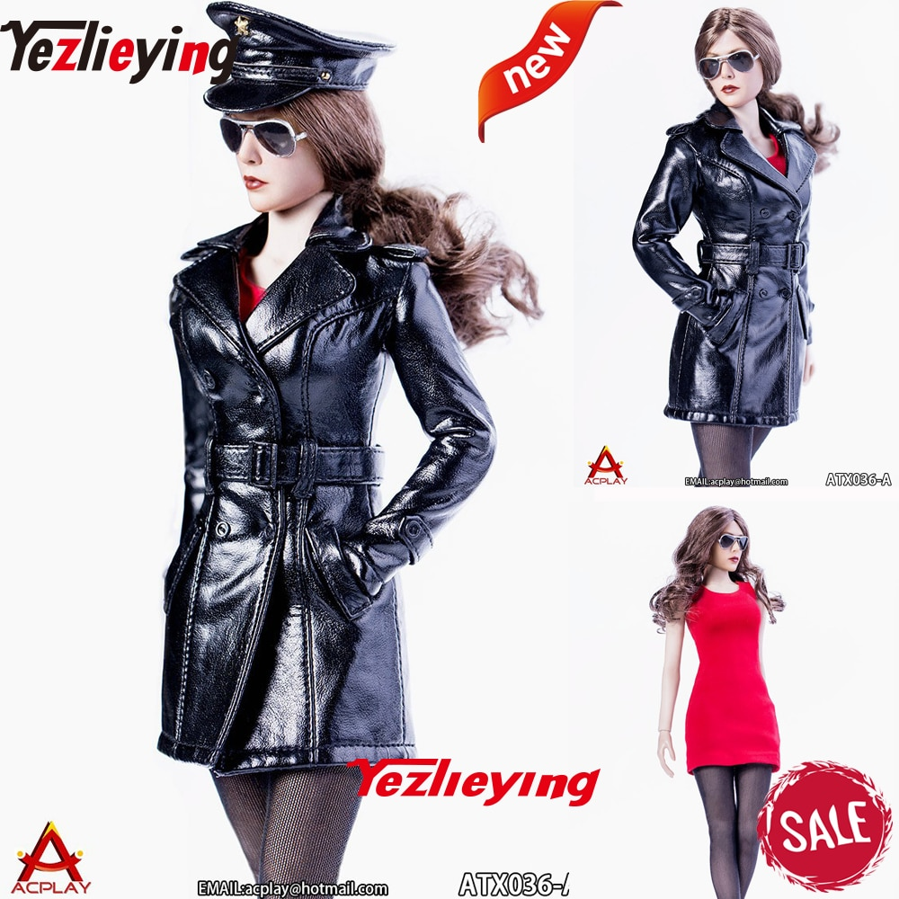 ACPLAY ATX036 1/6 ropa a escala femenina falda roja vestido sin mangas ropa interior falda paquete Hip Clothes f 12 pulgadas figura
