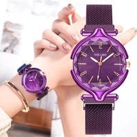 geometric surface digital dial female quartz watch luxury womens fashion luxury stainless steel magnetic buckle strap watches