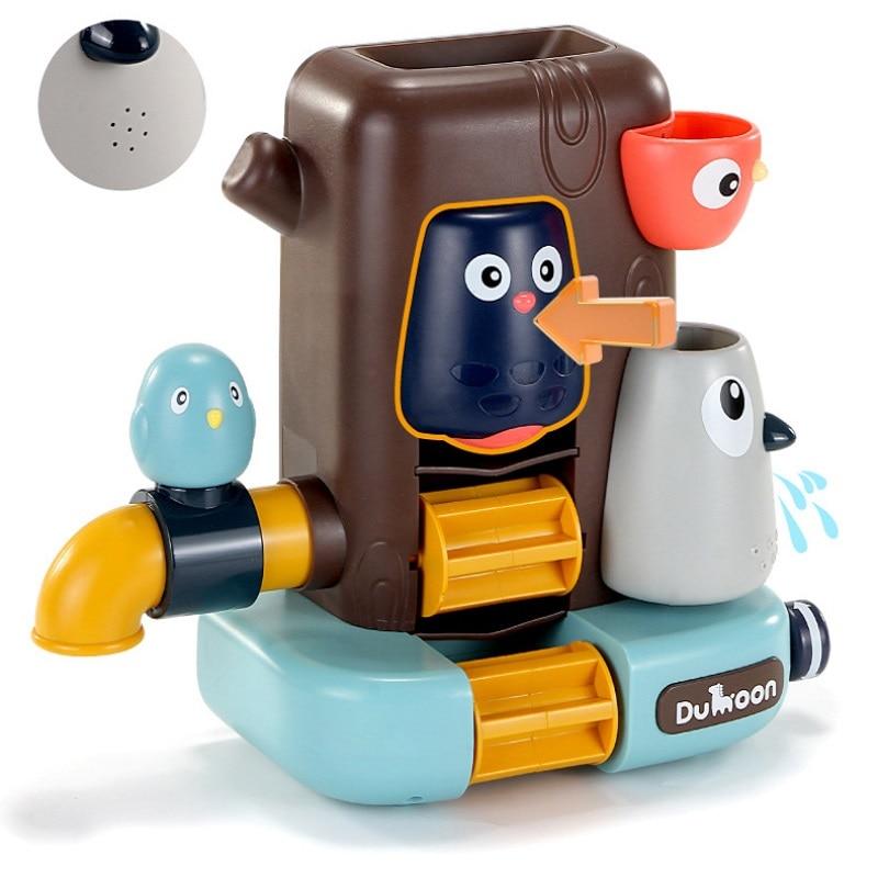 2020 Bathroom Toys Pipeline Water Spray Shower Game Bird Mushroom Toy for Children Swimming Bathroom Bathing Kids Toy gift