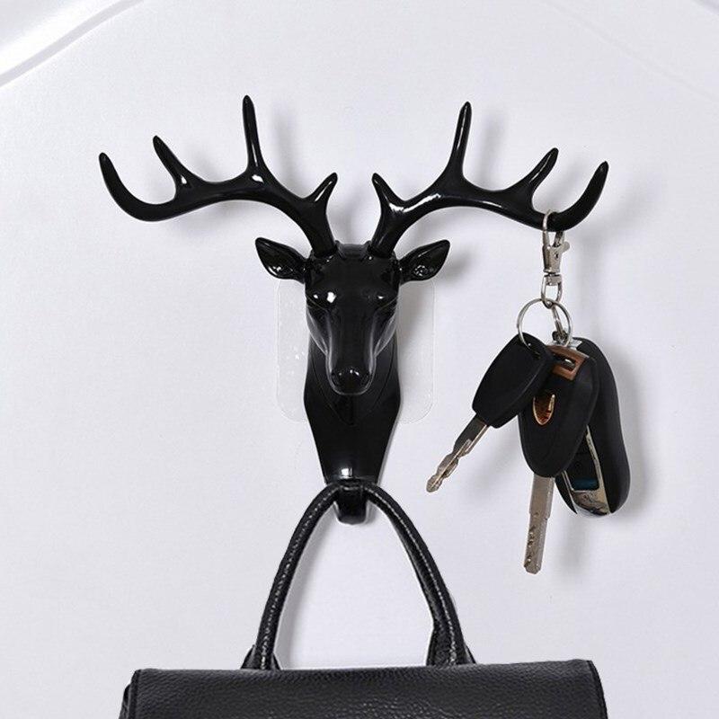 Настенный крючок в винтажном стиле, рога оленя для подвешивания одежды, шляпы, шарфа, ключей, рога оленя, вешалка, настенное украшение