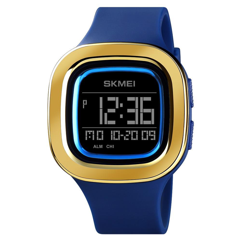 Fashion Sports Digital Watch Mens Watches Chrono Alarm Waterproof Clock Wristwatch SKMEI Brand Square LED relogio masculino