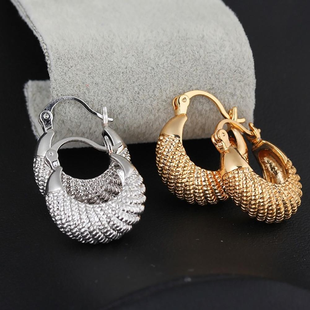 Pendientes redondos de aro grande chapados en oro/plata de moda para mujer, joyería de regalo, aros de Aro para mujer, pendientes de aro minimalistas