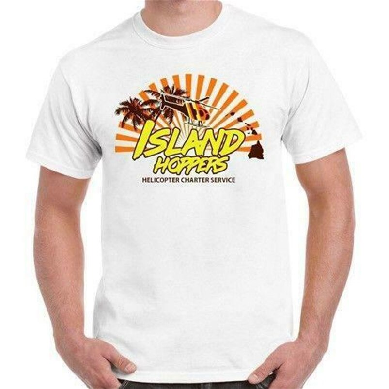 Nueva Isla Hoppers Magnum Pi King Tv clásico Hawaii Retro camiseta 80 Usa tamaño grande Top Ajax camiseta