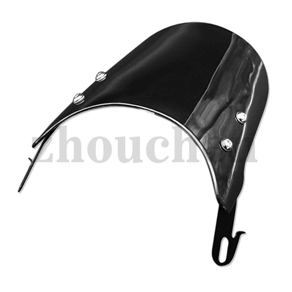 5-7 inch Motorcycle Wave Windshield Windscreen Wind Shield Screen for Motorcycles ATV Dirt Bike (Black)
