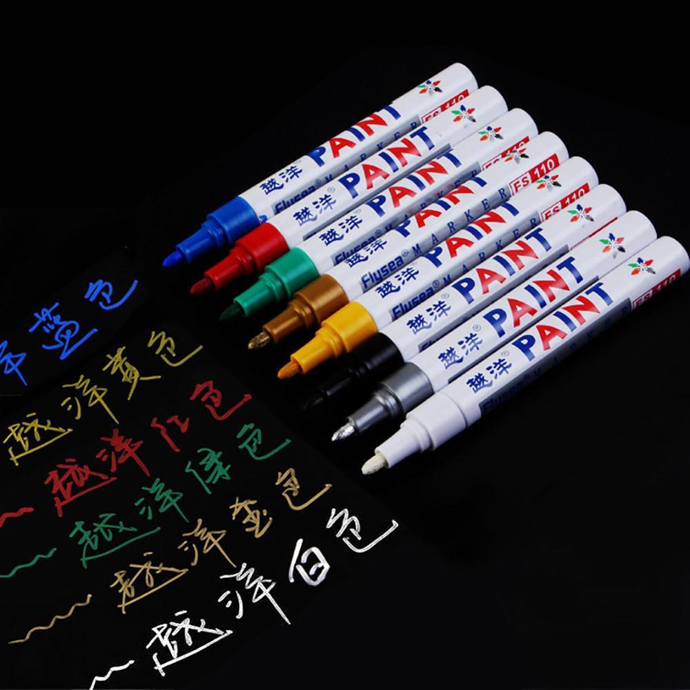 1 шт красочные Водонепроницаемый резиновые маркер с перманентной краской Ручка Авто Резиновые Шины протектора шины CD Металл маркер с перма...