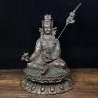 7 tibet buddhism old bronze cinnabars padmasambhava buddha statue sitting lotus enshrined buddha statues in the temple