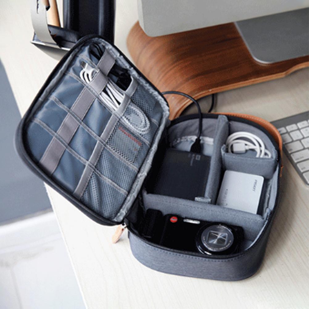 Bolsa de Cable de viaje para aparatos electrónicos bolsa organizadora de cables bolsa de almacenamiento de auriculares impermeable bolsa de Cable impermeable #