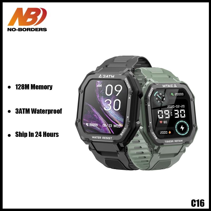Rastreador de Fitness para Android 3atm à Prova Relógio Inteligente Masculino 1.7 Polegada Dwaterproof Água 350 Mah Bateria Esporte Smartver Ios 2021 C16