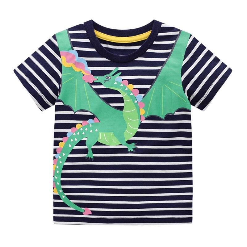 Бисер девушка платье новое летнее платье с принтом в виде дракона; Футболки для грудничков, футболки с коротким рукавом для мальчиков и дево...