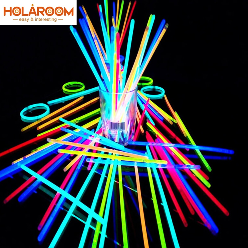 Party Fluorescence Light Glow Sticks Bracelets Necklaces Neon For Wedding Party Glow Sticks Colorful Glow Stick