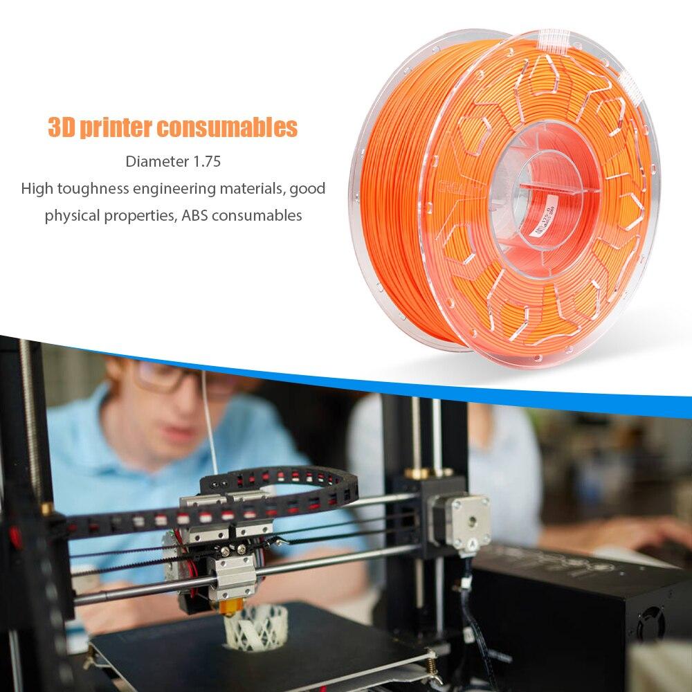 خيوط طابعة ثلاثية الأبعاد CR-ABS 1.75 مللي متر عديم الرائحة صديقة للبيئة صلابة قوية خيوط عالية الاستقرار ملحقات طابعة ثلاثية الأبعاد