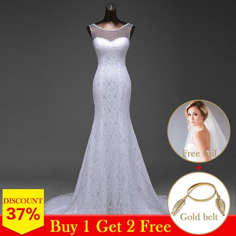 Novos vestidos de casamento 2020 sereia sem mangas com flores vestidos de noiva robe de mariage vestido de baile de casamento
