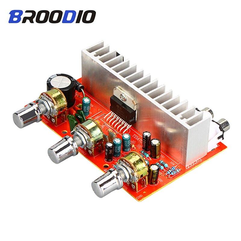 Amplificador Digital de potencia TDA7377 2,0 canales 2*40W amplificadores estéreo tarjeta de Audio DC 12V coche DIY Amplificador para cine en casa