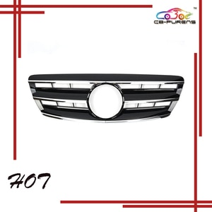 2003 2004 2005 2006  For-Mercedes-Benz S-class W220 CL Style with Emblem Front Bumper Racing Grille