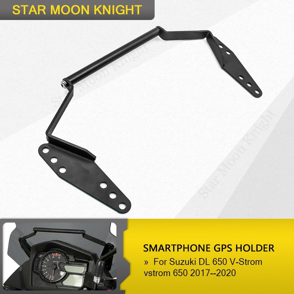 Para Suzuki DL 650 DL650 DL650XT V-Strom 2017-2019 2018 soporte de navegación para parabrisas GPS teléfono inteligente titular del GPS