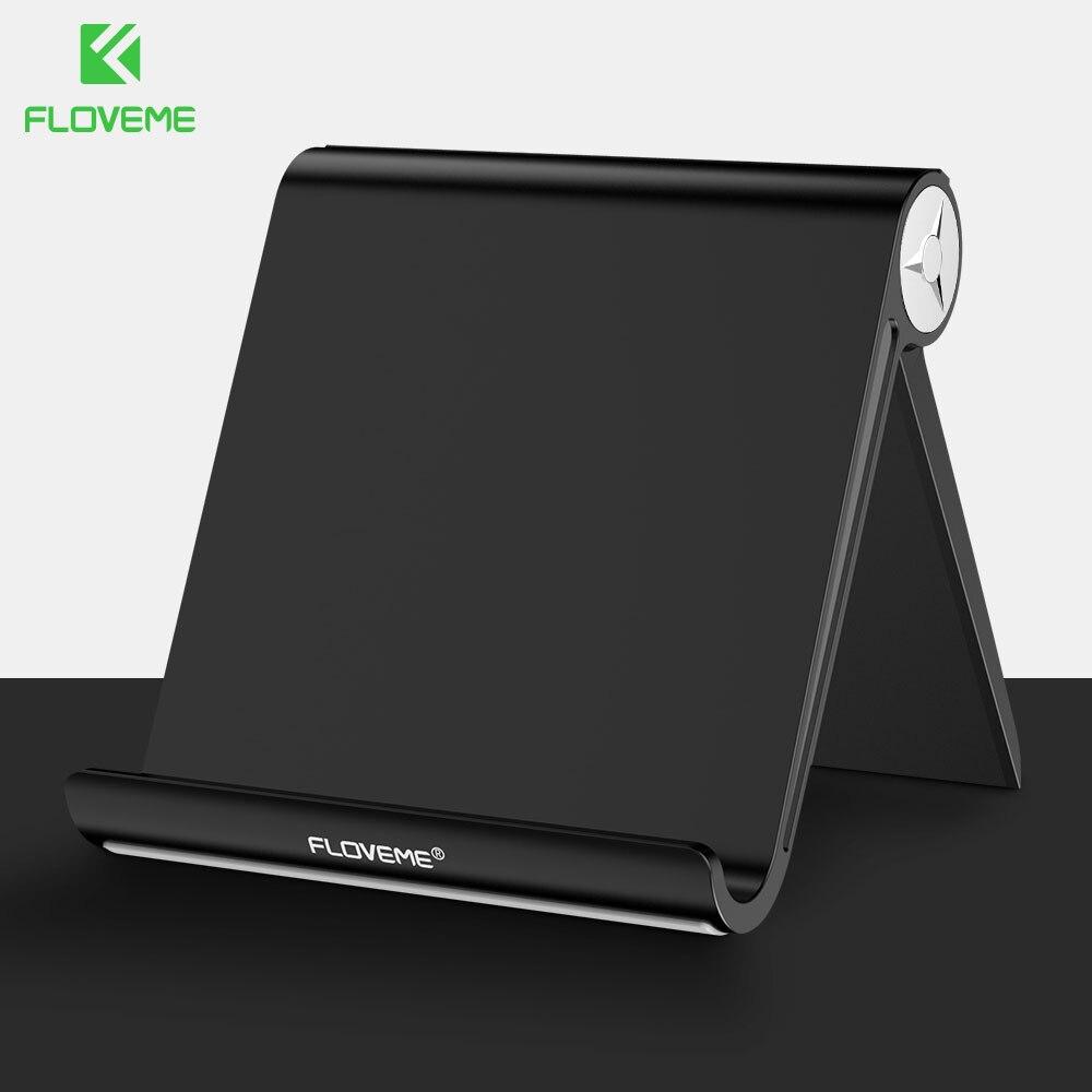 Suporte Do Telefone Suporte Para iPhone X 8 FLOVEME 6 7 Samsung A50 S9 Xiaomi 8 9 Ajustável Suporte de Mesa de Alumínio titular Estande Tablet