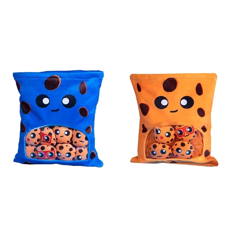 Cute Throw Pillow Stuffed Cookies Toys Removable Fluffy Creative Gifts for Teens Girls Kids enlarge