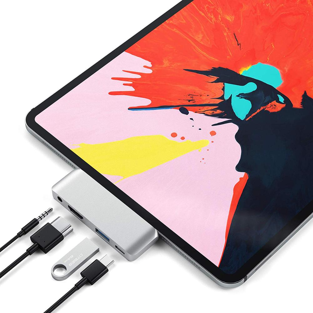 nucleo usb c para ipad pro 2020 macbook pro adaptador usb tipo c para 4k hdmi pd