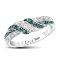 luxury crystal rings for women fashion white gold color womens wedding ring female engagement jewelry accessories gifts