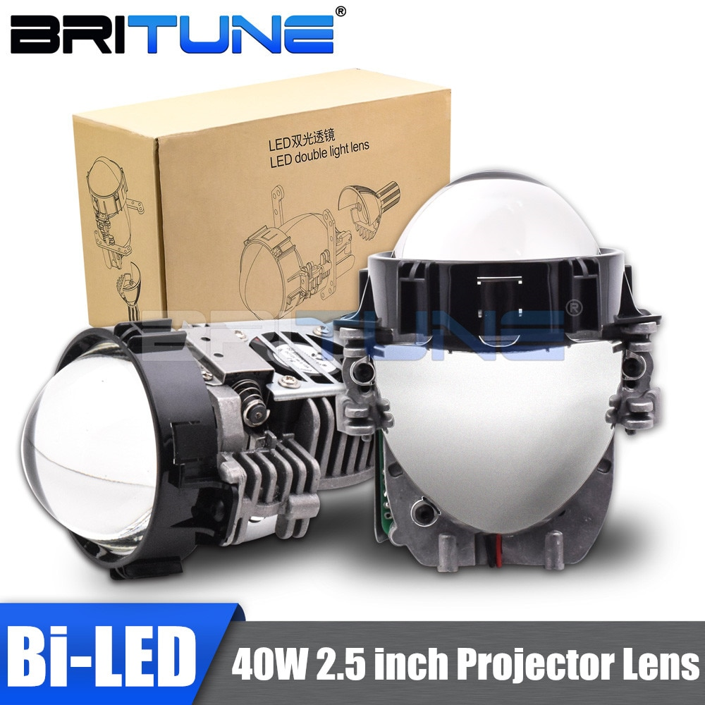H7 Bi-led Lens H4 H1 9005 9006 LED Projector Headlight Lenses 2.5 40W Universal Hella Kit Tuning Car