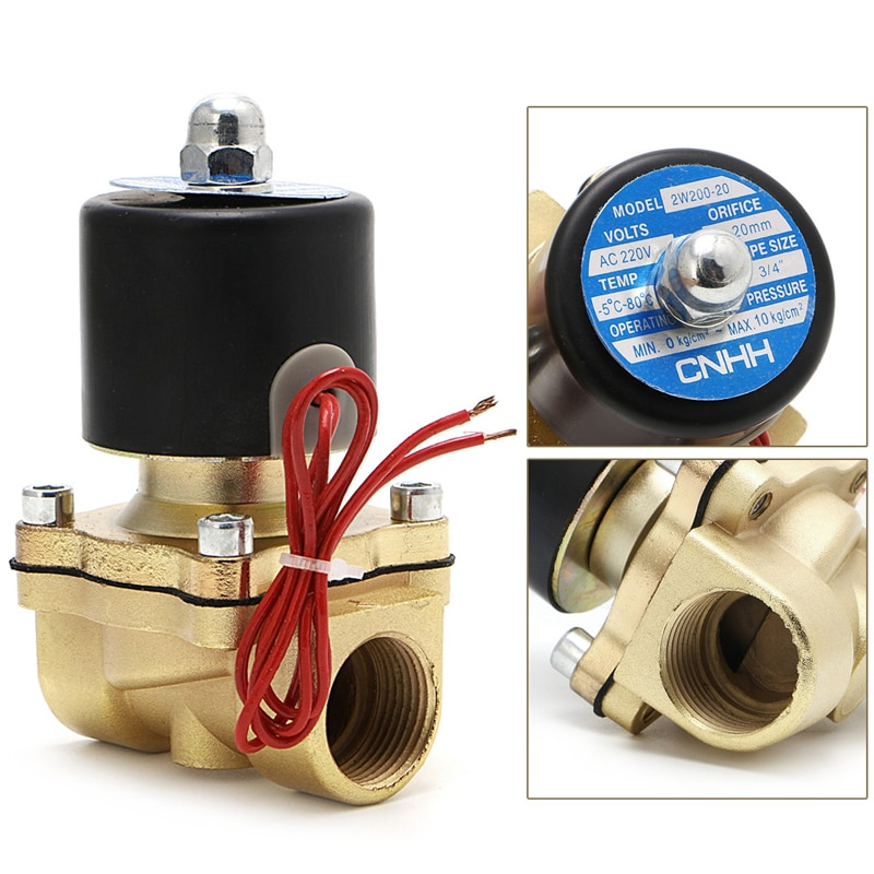 g1 4 bsp port 10 way 12 port pneumatic air solid aluminum manifold block splitter water gas oil 3/4 220V Electric Solenoid Valve Normally Closed Brass Solenoid Magnetic Valve Pneumatic Water Oil Air Gas Valve