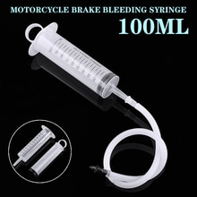1 set Motorcycle Bike Reverse Brake Bleed Kit Scooter Caliper Gas System Syringes Tool Universal Motorbike Repair Hand Tool
