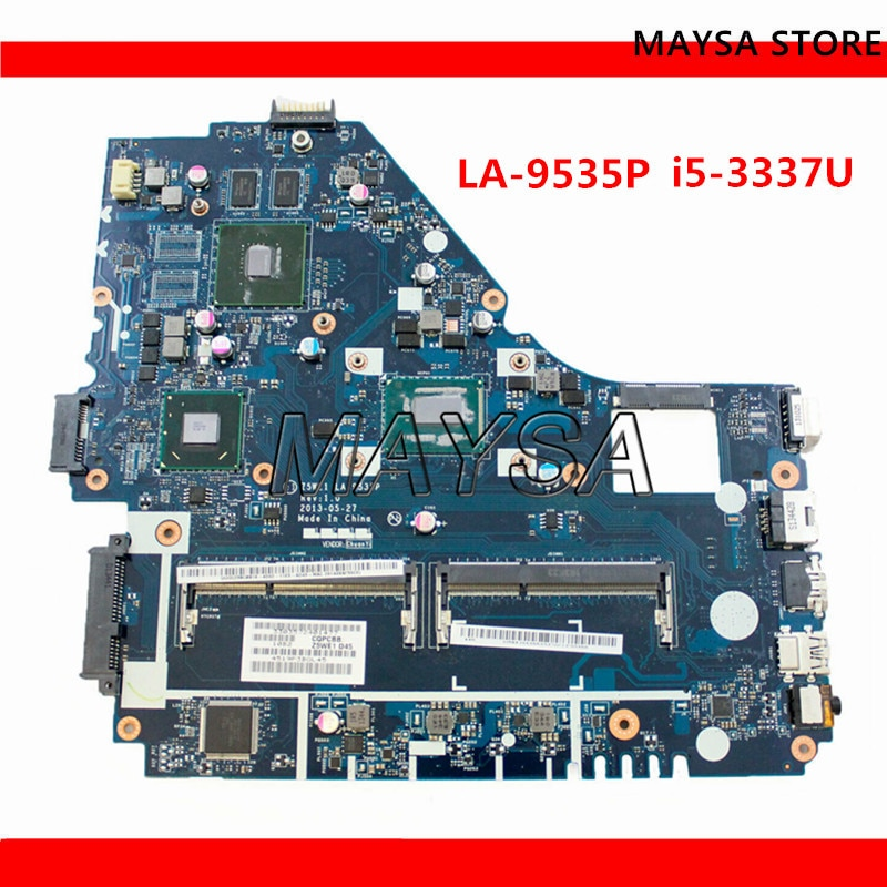 Z5WE1 LA-9535P لشركة أيسر أسباير E1-570 E1-570G اللوحة المحمول I5-3337 CPU DDR3 GT720M GPU اختبار كامل