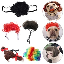New Funny Pet Dog Wig Cat Dog Cospaly Props Wigs Costume Decorative Hair Dress Up Christmas Costume