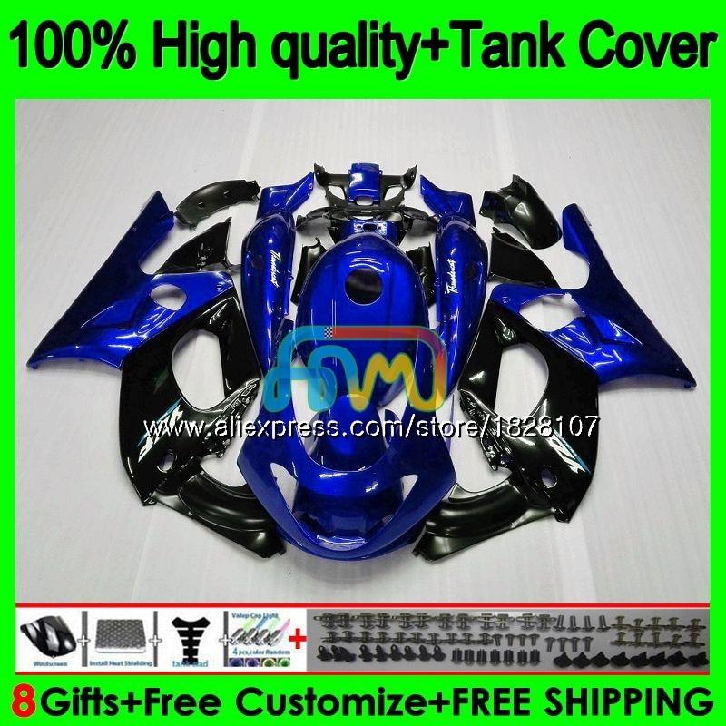 YZF-600R لياماها YZF600R Thundercat 96 97 98 1999 2000 2001 02 72BS.119 YZF 600R 1996 1997 الأزرق الأسود 1998 99 00 01 هدية