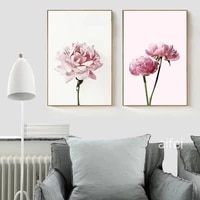 pink peony flower canvas painting nordic poster modular wall pictures for living room home decoration posters and prints