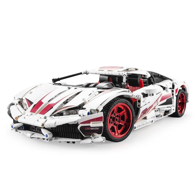 CADA C61018 RC LP610 Super Racing Car Bricks Technic MOC Model Building Blocks Remote Control Car Racing Toys For Children