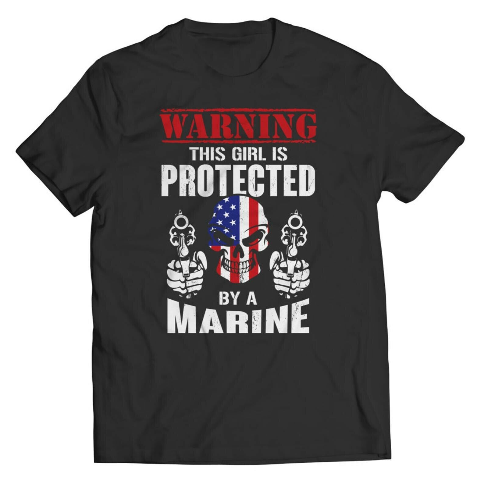 sorry ladies this guy is taken boyfriend t shirt relationship gifts for him anniversary t shirt gift from girlfriend Warning This Girl is Protected by a Marine Men T-Shirt Gift For Marines Shirt S-3XL