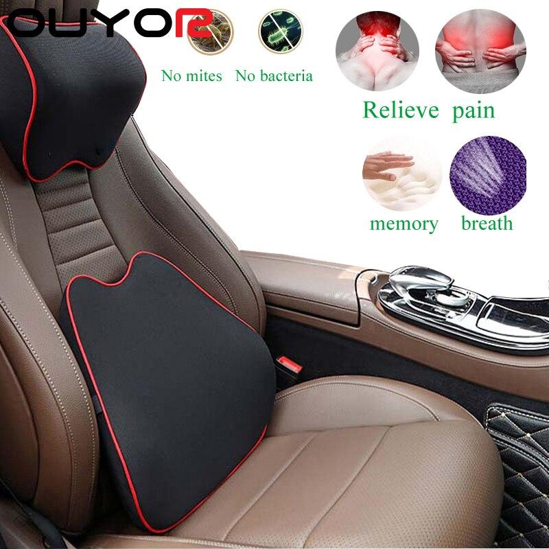 Автомобильная подушка на подголовник сиденья Автомобильная подушка для шеи с эффектом памяти Автомобильная подушка для поддержки головы с...
