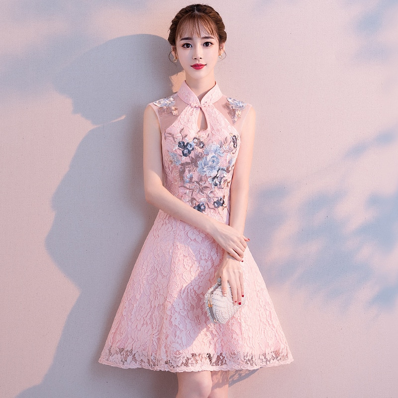 AliExpress - Daily Improved Cheongsam Student Short Young Girl Chinese Style Dress Retro Republic Sweet Little FragranceLoose Dress Long Slee