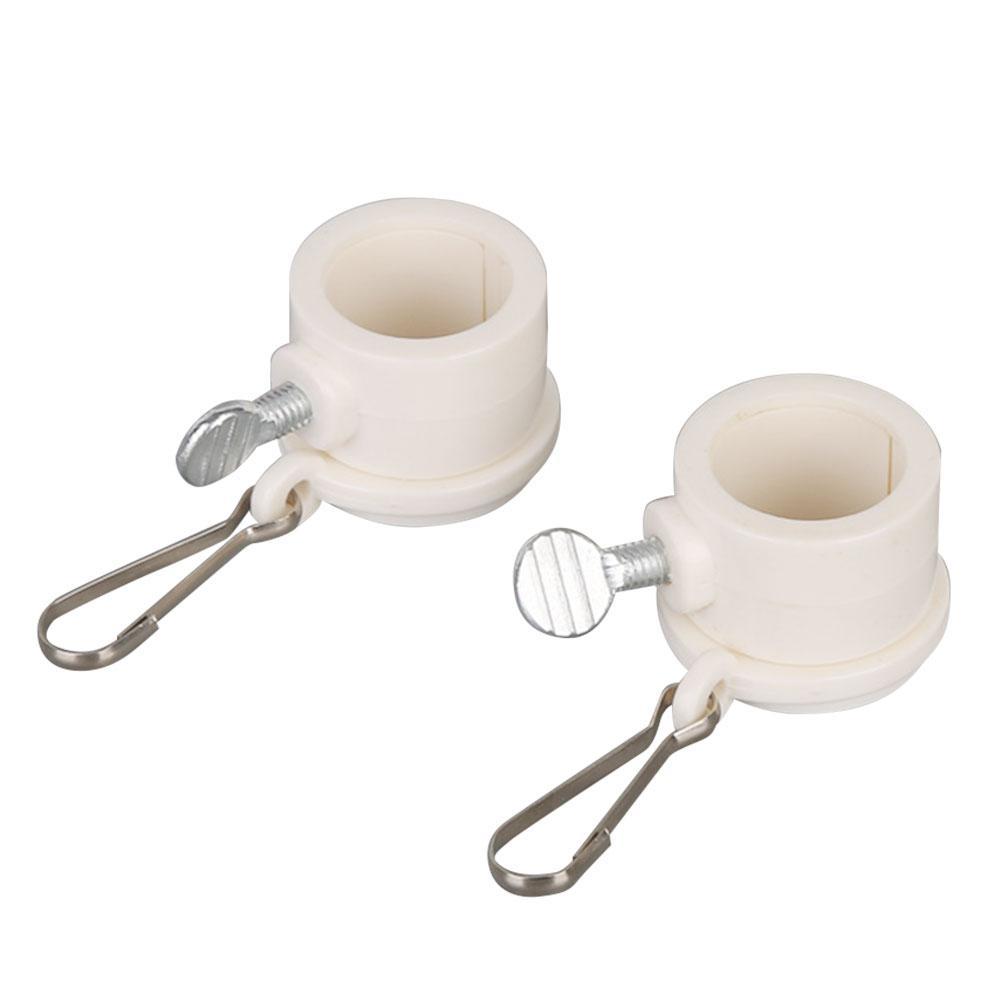 2 unids/set Anti-de poste de bandera de rotación de montaje anillos Junta redonda Clip archivos adjuntos al aire libre 360 giratoria anillo con carabinas