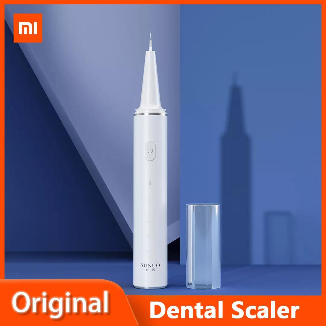 Xiaomi SUNUO-قشارة أسنان ذكية ، مرئية ، بالموجات فوق الصوتية ، 500 واط ، HD ، 3 أوضاع تنظيف ، IPX7 ، مقاوم للماء ، محمول ، جديد