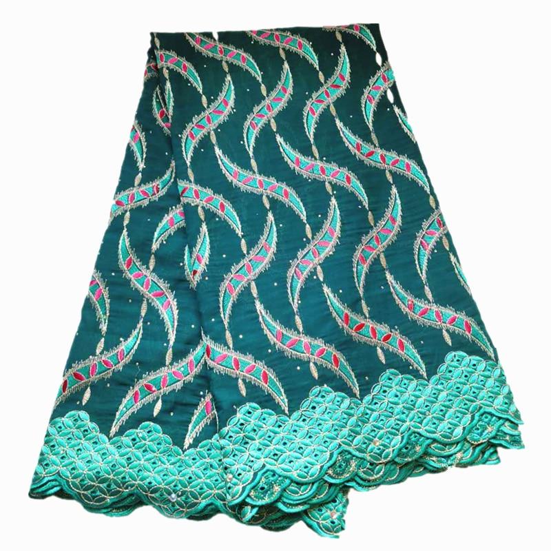 2020 de alta qualidade rendas verde swiss voile algodão rendas bordado nigeriano laço seco para casamento 5 metros por peças