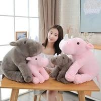 hot 4060cm soft lovely rhinoceros plush pillow kawaii stuffed animal plush toys for children baby appease doll kids girls gift