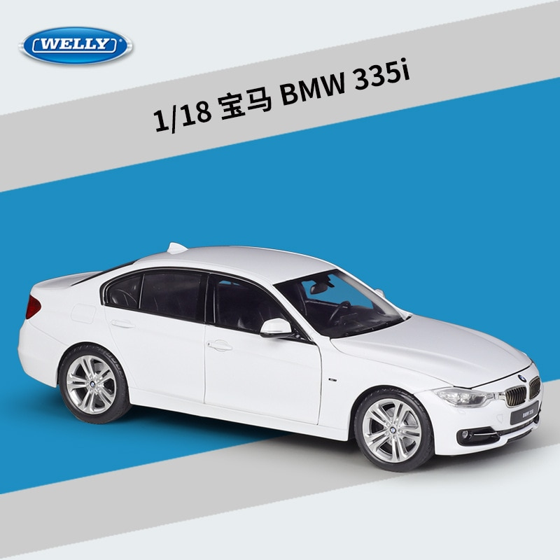 Welly Diecast 1:18 مقياس سيارة BMW 335i عالية محاكاة سيارة معدنية سبيكة الكلاسيكية لعبة مجسمة سيارات للأطفال جمع الهدايا