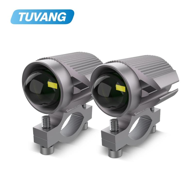 15W Super Bright Tri-model Motorcycle LED Headlight w/ Mini Projector Lens Car ATV Driving Foglight Auxiliary Spotlight