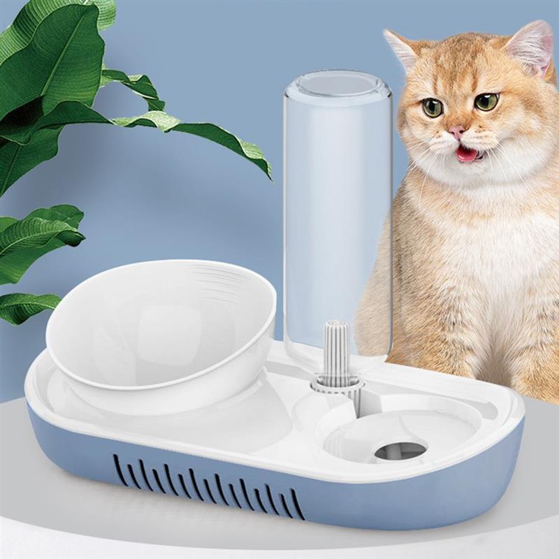 Puerto Dual, cuenco para mascotas, alimentador de plástico, puerto Dual automático, alimentador para beber agua, cuencos de lavabo para gatos, perros de compañía, gatos