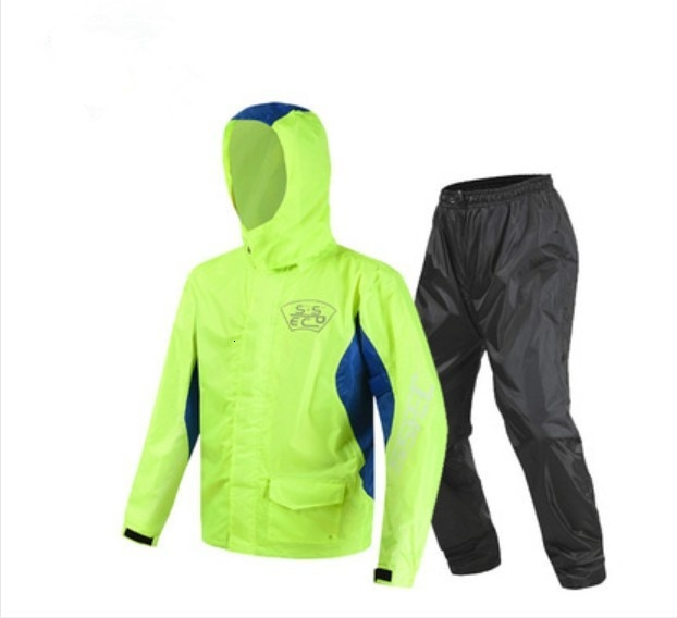Motocicleta impermeable para conducción Moto pantalones de lluvia traje adulto dividido al aire libre transpirable a prueba de lluvia SCJ-605 envío gratis